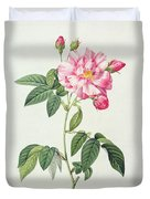 French Rose Duvet Cover by Pierre Joseph Redoute