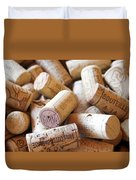 French Wine Corks Duvet Cover by Georgia Fowler