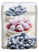 Fresh Berry Tarts Duvet Cover by Elena Elisseeva