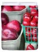 Fresh Market Fruit Duvet Cover by Jeff Kolker