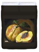 Fresh Peaches Duvet Cover by Adam Zebediah Joseph