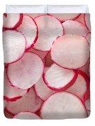 Fresh Radishes Duvet Cover by Steve Gadomski