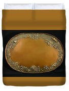 From The Foothills Bronze Tray Duvet Cover by Dawn Senior-Trask