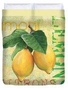 Froyo Lemon Duvet Cover by Debbie DeWitt