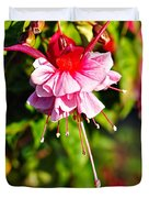 Fuchsia Enjoying The Sunshine Duvet Cover by Kaye Menner