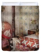 Furniture - Bedroom - A place to sleep Duvet Cover by Mike Savad