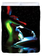 Gaia Bathing In A Pool Of Stars Duvet Cover by Pet Serrano