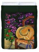 Garden Scene Duvet Cover by Elise Palmigiani