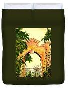Garden Scene Duvet Cover by Michael Vigliotti