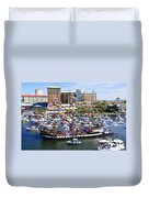 Gasparilla And Harbor Island Florida Duvet Cover by David Lee Thompson