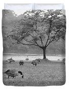 Geese On A Rainy Day Duvet Cover by Bill Cannon