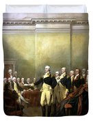 General Washington Resigning His Commission Duvet Cover by War Is Hell Store