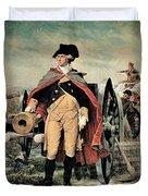 George Washington At Dorchester Heights Duvet Cover by Emanuel Gottlieb Leutze