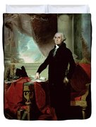 George Washington Duvet Cover by Gilbert Stuart
