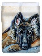 German Shepherd Duvet Cover by Enzie Shahmiri