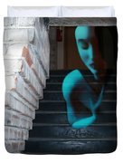Ghost Of Pain - Self Portrait Duvet Cover by Jaeda DeWalt