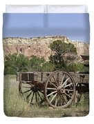 Ghost Ranch Duvet Cover by Mary Rogers