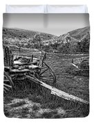 Ghost Wagons Of Bannack Montana Duvet Cover by Daniel Hagerman
