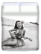 Girl And Her Ukulele Duvet Cover by Brandon Tabiolo - Printscapes