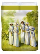 Girls In The Band Duvet Cover by Jane Whiting Chrzanoska