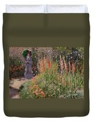Gladioli Duvet Cover by Claude Monet