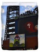 Go Phillies - Citizens Bank Park - Left Field Gate Duvet Cover by Bill Cannon