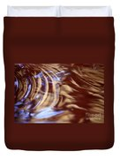 Go With The Flow - Abstract Art Duvet Cover by Carol Groenen