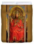 God The Father Duvet Cover by Hubert and Jan Van Eyck