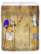 Gods Of Ancient Egypt Duvet Cover by Michal Boubin
