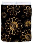 Golden Flowers Duvet Cover by Frank Tschakert