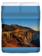 Golden Glow On Big Sur 2 Duvet Cover by Kathy Yates