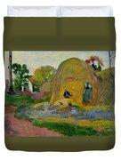 Golden Harvest Duvet Cover by Paul Gauguin
