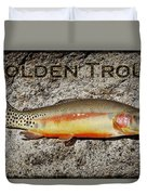 Golden Trout Duvet Cover by Kelley King