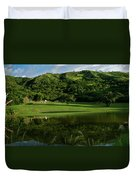 Golfito Desde La Laguna Duvet Cover by Bibi Romer