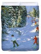 Gondola Austrian Alps Duvet Cover by Andrew macara