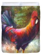 Gonzalez the Rooster Duvet Cover by Talya Johnson