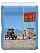 Good Bye Death Valley - The End Of The Desert Duvet Cover by Christine Till