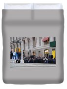Good Friday On Trinity Place Duvet Cover by Rob Hans