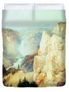 Grand Canyon of the Yellowstone Park Duvet Cover by Thomas Moran