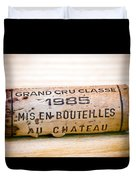 Grand Cru Classe Bordeaux Wine Cork Duvet Cover by Frank Tschakert