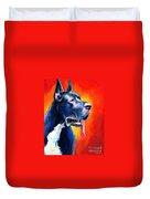 Great Dane Dog Portrait Duvet Cover by Svetlana Novikova