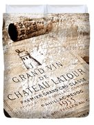 Great Wines Of Bordeaux - Chateau Latour 1955 Duvet Cover by Frank Tschakert