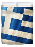 Greece Flag Duvet Cover by Setsiri Silapasuwanchai