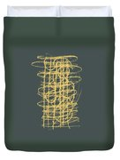 Green And Gold 1 Duvet Cover by Julie Niemela