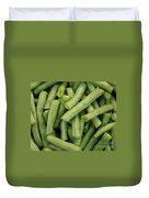 Green Beans Close-up Duvet Cover by Carol Groenen