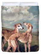 Greyhounds Duvet Cover by John Emms