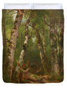 Group Of Trees Duvet Cover by Asher Brown Durand