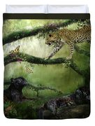 Growing Wild Duvet Cover by Carol Cavalaris