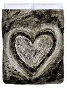 Grunge Heart Duvet Cover by Frank Tschakert