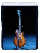 Guitar Blue Duvet Cover by Lauri Novak